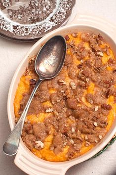 Sweet Potato Casserole from @NevrEnoughThyme http://www.lanascooking.com/2014/11/18/sweet-potato-casserole/ #southern #vintage #classic #sweetpotatoes #casseroles