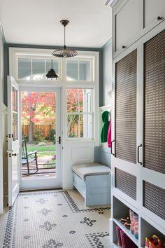 45 Stylish Mudrooms & Entries Mud room with Dutch door Room Tiles Design, Home Interior, Interior Design, Interior Decorating, Decorating Ideas, Mudroom Laundry Room, Küchen Design, Design Ideas, Door Design