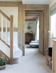 Oak framed hallway...
