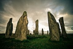 Callanish stone circle sunset, Isle of Lewis, Outer Hebrides, Scotland Monuments, Places To Travel, Places To See, Places Around The World, Around The Worlds, Eifel, Outer Hebrides, Beautiful World, Beautiful Places