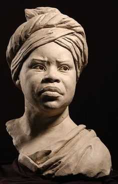 Stone Sculptures, Full Figure Portrait Sculpting by Philippe Faraut  This catches the essence of her demeanor and the costume of that day...