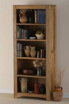 Traditional Tall Bookcase Design Ideas Made Of Mango Wood - AzMyArch
