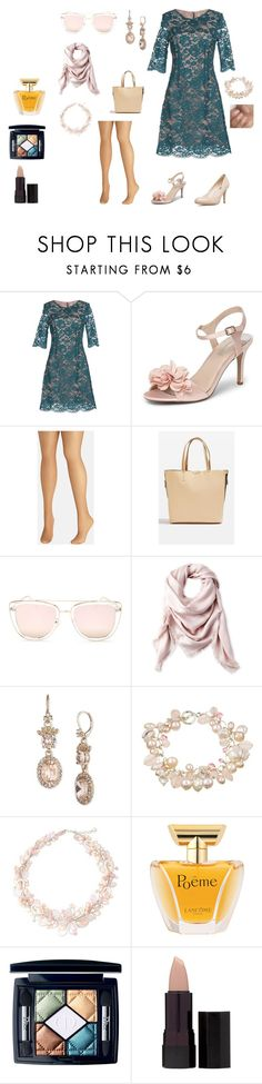 """""""#2 Rose&Green"""" by cristina-cannizzo on Polyvore featuring Molly Bracken, Dorothy Perkins, Avenue, Topshop, Quay, Liberty, Marchesa, Charming Life, NOVICA and Lancôme"""