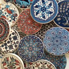 Ceramic Trivet with fun fish design - Sophie's Bazaar - 2 Ceramic Coasters, Ceramic Plates, Decorative Plates, Turkish Plates, Turkish Tiles, Ottoman Design, Fish Design, Pottery Painting, Ceramic Painting