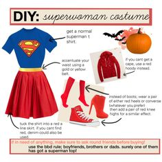 diy supergirl/superwoman costume., created by bethhy on Polyvore