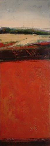 The Heights - long narrow format - KAREN JACOBS contemporary and abstract paintings