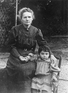 Marie Curie in Photographs: Marie Curie with Daughter Eve, 1908