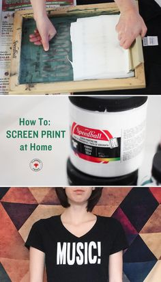 Screen Printing at home DIY // Flannel Foxes Tomboy Fashion Blog
