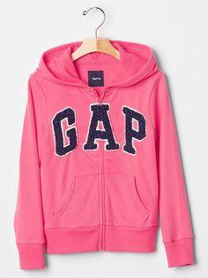 Sparkle logo zip hoodie