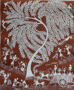 """Find out more info on """"abstract art paintings diy"""". Have a look at our web site. Worli Painting, Kerala Mural Painting, Indian Art Paintings, Kalamkari Painting, Madhubani Painting, Art Indien, Monochromatic Art, Shiva Art, Art Premier"""
