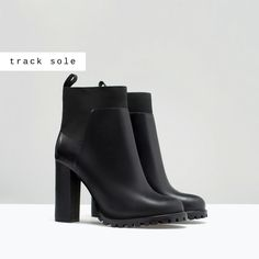 Image 2 of TRACK SOLE HIGH HEEL ANKLE BOOT from Zara
