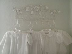 Baby clothes are like little handmade bouquets. Intricate and soft with delicate folds like petals. Junk Chic Cottage, Cottage Signs, Cottage Front Porches, White Coverlet, Pink Home Decor, Home Comforts, Cabins And Cottages, Rose Cottage, Pin Tucks