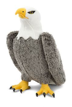 Incredible details--including bold yellow beak and feet, shiny black talons and expressive eyes--grace this Eagle. The combination of an amazingly soft finish and sturdy wireframe construction makes f