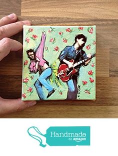 Original mini painting printed on stretched canvas / THE SMITHS - Morrissey / 10 X 10 cm / Rock music art / BAND / Rock n Roll painting / 80s / Giclee prints from Artpopop https://www.amazon.com/dp/B0758K9WT8/ref=hnd_sw_r_pi_dp_RH7WzbENYNWP0 #handmadeatamazon