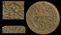 "1 Lepton (1828) with ""Phoenix/Converging rays"" in copper. Pattern coin. With Rhomboid wreath bow, five-rayed star, ""ΚΥΒΕΡΝΙΤΗΣ"" instead of ""ΚΥΒΕΡΝΗΤΗΣ"" & Reeded edge. Weight:1,43gr. & Diameter:16,8mm. The coin who listed in ""ΤΑ ΝΟΜΙΣΜΑΤΑ του Ι.Α.ΚΑΠΟΔΙΣΤΡΙΑ/ΦΛΩΡΟΣ ΚΑΤΣΟΥΡΟΣ"" page 43. & ""Auktions Katalog XX / I.B. GREISER OHG, Hannover 27.04.1979 / Lot# 2"". Traces of oxidised. (Hellas T.1) & (P.Ch. 101a-A.a1) Extremely Rare & Almost Uncirculated"