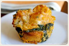 Sweet Potato Kale Bread Puddings--another easy to-go snack (and you can replace the bread with a grain or something else).