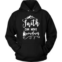 Christian hoodies with bible verses Matthew - Faith can move mountains Matthew christian hoodie. This bible verse on hoodie is a perfect way to share your faith with others. Printed and shipped from the USA. Prayer Quotes, Bible Verses Quotes, Encouragement Quotes, Faith Quotes, Faith Verses, Quotes About Strength In Hard Times, Quotes About God, Prayer For Guidance, Christian Quotes