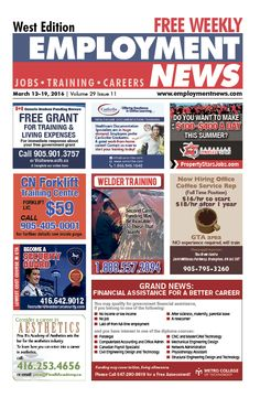 Check out this week's issue of #EmploymentNews #West Edition! Available now! http://www.jobclassified.ca/issues/employmentnewswest/index.html