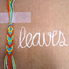 Create a lovely leaf laden friendship bracelet with this DIY.