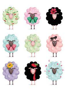 Alaa ثيمات وتصاميم وتوزيعات لعيد الاضحى جاهزه للطباعه Sheep Crafts Sheep Illustration Sheep Art