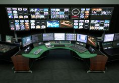 Creating Space for New Technology - Technical furniture for Broadcast, Video Production, Post-Production Edit, Security, Process Control and Dispatch Tech Room, Process Control, Safe Room, Computer Setup, Video Wall, Create Space, Media Center, Poker Table, New Technology