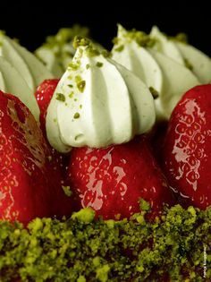 Strawberry and Pistachio Tart by Patrick Rougereau