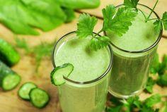 Rezepte für grüne Smoothies it Gurke und Petersilie