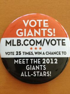 #VoteSFG #SFGiants