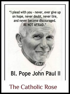 273 Best Saint Pope John Paul Ii Images Catholic Catholic Saints God