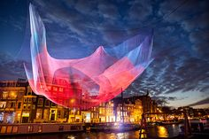 American artist Janet Echelman creates marvelous... | Archie McPhee's Endless Geyser of AWESOME!