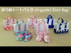 折り紙 トートバック 折り方(niceno1)Origami Tote bag tutorial - YouTube