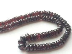 Garnet Beads Natural Garnet Faceted Rondlle Beads by gemsforjewels