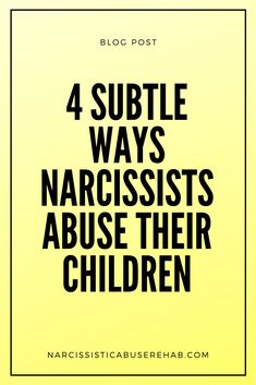 Children of narcissists are born into a gaslit reality and given to the care of a psychological predator. Here are four subtle ways narcissistic parents abuse their children. Narcissistic Injury, Narcissistic Children, Narcissistic Mother, Family Scapegoat, Guilt Trips, Dysfunctional Family, Narcissistic Personality Disorder, Domestic Violence, Predator