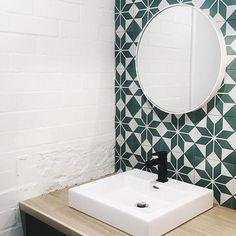 Bathroom 💗 designed by the very clever @bec_tougas Lusting over those @jatanainteriors tiles #bathroominspo #tiles #australianhome