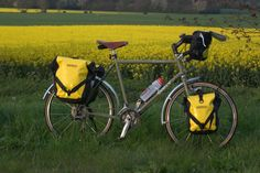 If you're set to carry a lot of weight, remember to spread it over the whole bike, with front and rear pannier bags.