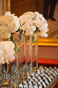 Glamorous White Texas Wedding from Emily Clarke Events - wedding centerpiece idea
