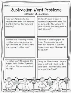 Math Word Problem Task Cards. Includes 80 different addition ...