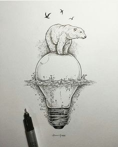 #polarbear #artic #statement #politics #globalwarming #environment #sustainability #art Re-post by Hold With Hope