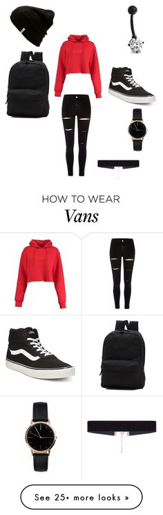 """""""schhol"""" by cravenmckenzie on Polyvore featuring River Island, Boohoo, Bling Jewelry, Vans, Freedom To Exist and 8 Other Reasons"""