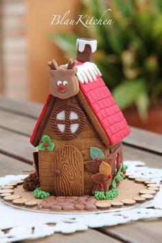 Gingerbread cookie house tutorial « BlauKitchen