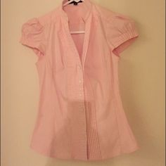 Express design studio light pink button down top Express design studio light pink button down top Express Tops Button Down Shirts
