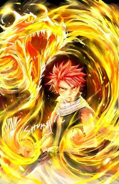 Natsu Dragneel (Legit reminds me of the Dragon Flame from Winx Club XD)