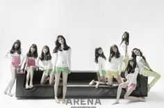 Girls' Generation Arena Homme+ Korea Magazine March Issue '09