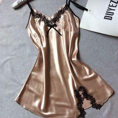Ladies Sexy Silk Satin Night Dress