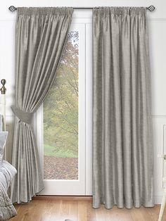 Chenille Argent Curtains from £35.95  www.curtains-2go.co.uk  Luxurious and striking window treatment option.
