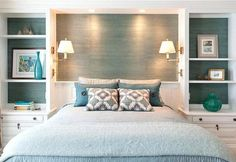 Small Master Bedroom Interior Design Ideas , Your bedroom shouldn't just be the location where you sleep. If you truly have a little bedroom and there are many things scattered here and there, yo. Bedroom Built Ins, Small Master Bedroom, Master Bedroom Design, Home Decor Bedroom, Bedroom Ideas, Bedroom Furniture, Diy Bedroom, Furniture Ideas, Bedroom Storage