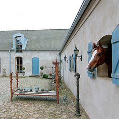 Stucco & blue doors... this is soo pretty