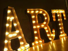 Vintage Marquee Lights on Etsy