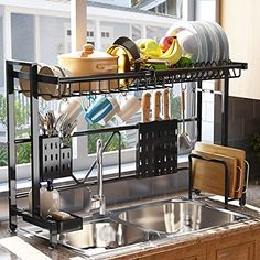 Amazon has the Over The Sink Dish Drying Rack, SAYZH Width Adjustable( Fit Small and Large Sink Size from 22 inches to 36 inches ) Stainless Steel Kitchen Drainer Countertop Organizer, Black marked down from $59.99 to $29.99. That is 50% off retail price! TO GET THIS DEAL: GO HERE to go to the product…