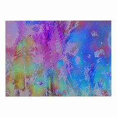 KESS InHouse Malia Shields 'Painterly Foliage Series 3' Pink Blue Dog Place Mat, 13' x 18' *** Don't get left behind, see this great dog product : Dog food container